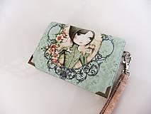 Mirabelle II-peněženka vyšívaná rokajlem s poutkem