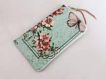 Na mobil - Růžičky I. - luxusní pouzdro vyšívané rokajlem - 5427695_