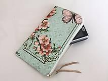 Na mobil - Růžičky I. - luxusní pouzdro vyšívané rokajlem - 5427705_