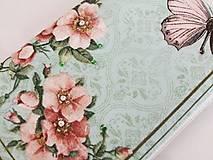 Na mobil - Růžičky I. - luxusní pouzdro vyšívané rokajlem - 5427706_