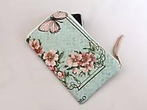 Na mobil - Růžičky I. - luxusní pouzdro vyšívané rokajlem - 5427716_