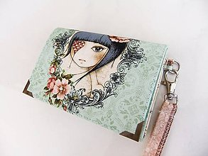 Peňaženky - Mirabelle III-peněženka vyšívaná korálky,s poutkem - 5427854_