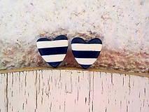 MiNi srdce námorníka-napichovačky (tmavo modrá)