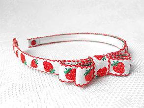 Ozdoby do vlasov - Strawberries headband - 5431610_