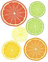 Dekorácie - Samolepky na zeď Citrusy 11 ks - 5428663_