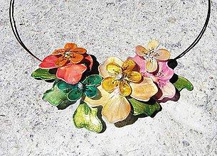 Náhrdelníky - kvetinový náhrdelník - 5431168_