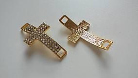 Komponenty - Medzikus krížik zlatý - 5430516_