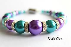 Náramky - Shades of Turqoise&Purple... - 5430457_