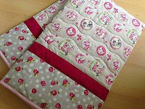 Úžitkový textil - *** a k c i a *** Mačičková kvietkovaná deka - 5430451_