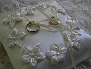 Prstene - Vankušik pod obrúčky - 5430579_