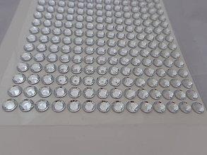 Komponenty - Lepiace kamienky strieborné/priesvitné - 5433455_