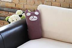 Úžitkový textil - Vankúš medvedík tulkáč Hugo - 5435113_