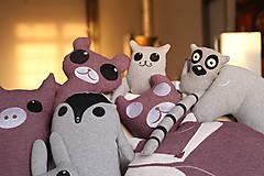 Úžitkový textil - Vankúš líška Foxi - 5435237_
