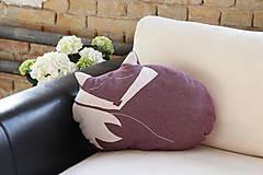 Úžitkový textil - Vankúš líška Foxi - 5435239_