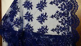 Šaty - Spoločenské šaty z korálkovej krajky - 5434975_