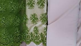 Šaty - Spoločenské šaty z korálkovej krajky - 5434976_