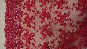 Šaty - Spoločenské šaty z korálkovej krajky - 5434977_