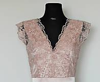 Šaty - Spoločenské šaty z korálkovej krajky - 5434993_