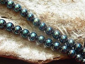 Minerály - Hematit čiernotyrkysový 10mm - 5432446_
