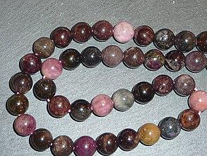 Minerály - Elbait (mnohofarebný turmalín) AA 10mm - 5433028_