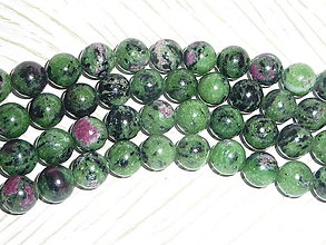 Minerály - Rubín v zoisite A 10mm - 5433192_