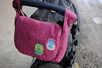 Veľké tašky - Taška s dvoma sovičkami - 5435648_