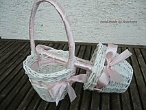 - Ružová svadba - košíček - 5437224_