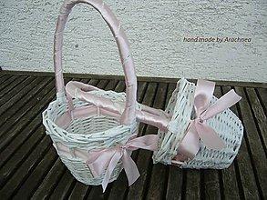 Dekorácie - košíček pre družičku (svetlo ružový) - 5437224_