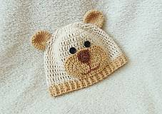 Detské čiapky - Čiapka macko pre novorodeniatko :) - 5436350_