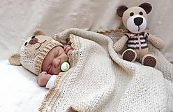 - Čiapka macko pre novorodeniatko :) - 5436351_