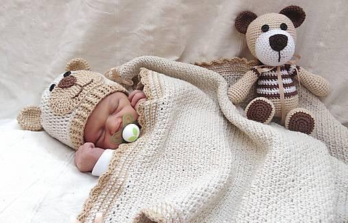 Čiapka macko pre novorodeniatko :)