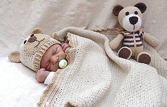 Detské čiapky - Čiapka macko pre novorodeniatko :) - 5436351_