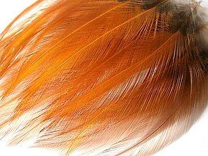 Suroviny - 1-2*30 K1-1b (oranžové, priesvitné, stredná dĺžka) - 4ks - 5436440_