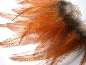 Suroviny - 1-2*31 K1-1a (oranžové, priesvitné, krátke) - 4ks - 5436512_