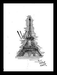 Kresby - Línie - Eiffelovka (print) v ráme - 5438159_