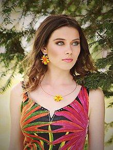 Sady šperkov - Hippie collection - yellow flowers...set - 5438338_