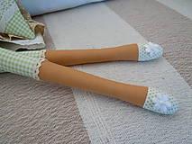 Bábiky - Béžovozelená so srdiečkom - 5435335_