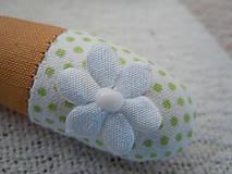 Bábiky - Béžovozelená so srdiečkom - 5435336_