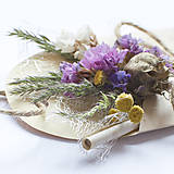 Papiernictvo - Venovanie na darček s kvetmi - 5436286_