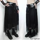 - Dlhá gothická 3-vrstvová sukňa - 5437105_
