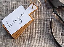 Kľúčenky - mini lopáriky / kľúčenky / menovky, set 4 ks - 5437503_