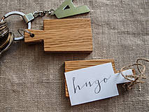 Kľúčenky - mini lopáriky / kľúčenky / menovky, set 4 ks - 5437504_