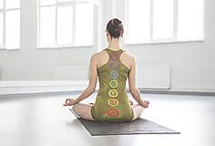 Tričká - Chakras Yoga tielko white,kaki,tyrkys,baklažán - 5438548_