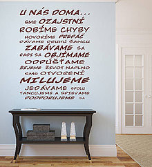 Dekorácie - Nálepka na stenu - U nás doma... - 5439286_