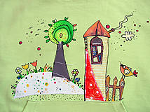 Detské oblečenie - Na zelenej lúke - mikina s reflexnými prvkami - 5442634_