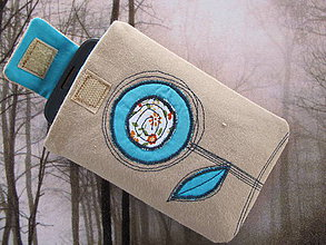 Úžitkový textil - Obal na mobil-kvietok - 5441559_