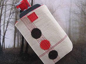 Úžitkový textil - Obal na mobil-trojbodka - 5441578_