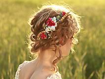 """Ozdoby do vlasov - Štvrťvenček """"letná ľúbeznosť"""" - 5441757_"""