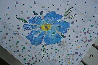 Úžitkový textil - obrus nezábudky - 5442556_