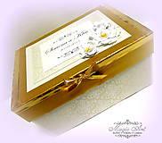 Krabičky - Krabica na svad. pohľadncie
